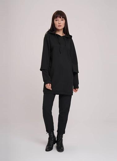 Mizalle Sweatshirt Siyah